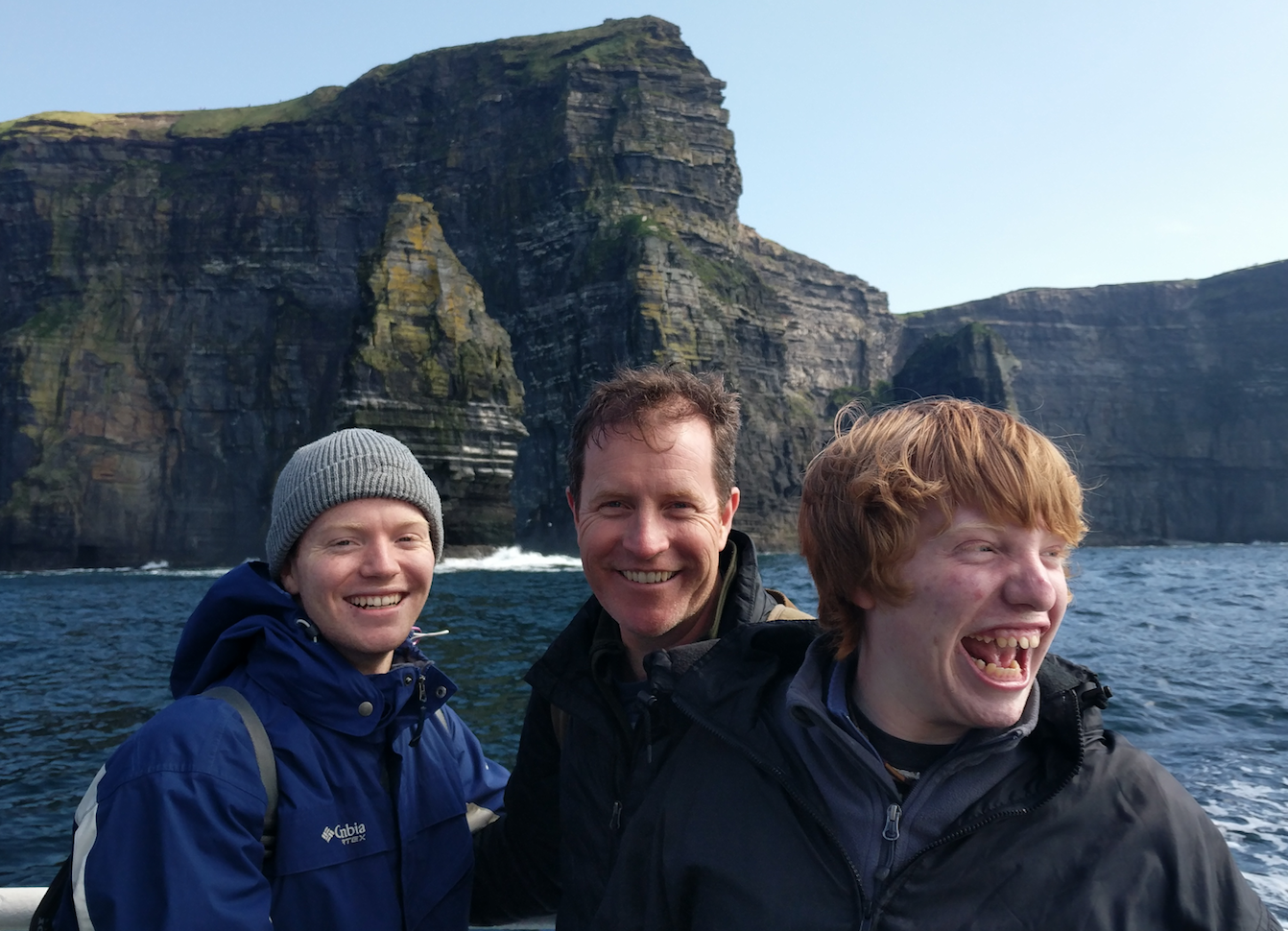 With my sons Matty and Duncan at the Cliffs of Moher, County Clare, Ireland